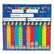 Learning Resources - Happy Birthday Planner Nylon Hanging Classroom Pocket Chart