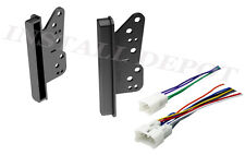COMPLETE CAR STEREO RADIO INSTALL DOUBLE DIN TRIM KIT CD PLAYER + WIRING HARNES