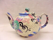 Blue Woodstock design 2 cup teapot by Heron Cross Pottery