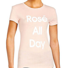 "NEW NWT $88 WILDFOX COUTURE ""ROSE' ALL DAY"" PINK TEE TSHIRT TOP RARE FITS M-L"