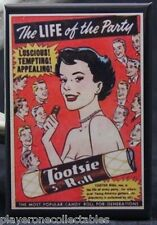 "Vintage Tootsie Roll Candy Ad 2"" X 3"" Fridge / Locker Magnet. Creative Gift!"