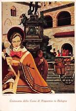 9684) BOLOGNA 1937  CENTENARIO DELLA CASSA DI RISPARMIO, ILL. NANNI.