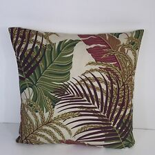 "Sanderson Fabric Manila Mulberry Sand 17"" x 17""  Cushion Cover"