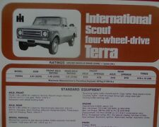 International Scout 4x4 Terra Ute, sales brochure / specification sheet