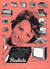 PUBLICITE ADVERTISING 1962 RADIOLA éléctroménager éléctrophone  radio transistor