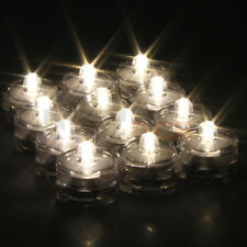 24x LED Tea Light Candles FLAMELESS Wedding Warm White Waterproof Battery Vase