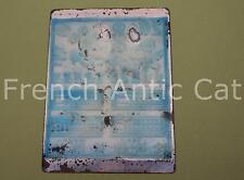 Ancien tampon scolaire métal mathématique calcul chiffre 20 compter 19*14 AA072
