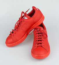 New. ADIDAS RAF SIMONS STAN SMITH Red Leather Sneakers Shoes 6/39 $455