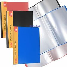 3 X A4 Document Certificate Display Folder With 40 Plastic Transparent Pockets