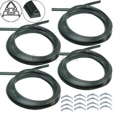 4 x Stoves Oven Cooker Door Seal Gasket & Rounded Corner Fixing Clips Curved