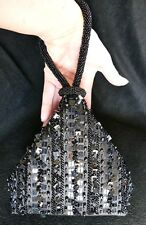 DRAP BARCELONA Artisan Beaded Satin Wrist Bag Purse Clutch Cocktail Club $129
