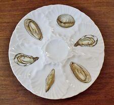 """Vintage L'Hirondelle French Porcelain 9-1/2"""" Oyster Plate MINT"""