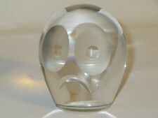 German Crystal Frown Sad Face Paperweight Munchen Haertle Kristall