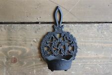 Vintage Cast Iron Wall Candle Holder
