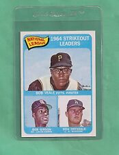 1965 Topps N.L. Strikeout Leaders Gibson & Drysdale # 12 NM-MT Tough Card !!!