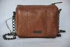 ALTERNATIVE APPAREL Brown Tooled Leather Shoulder Bag Handbag Purse NEW