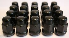 20 X M12 X 1.5 BLACK TAPERED ALLOY WHEEL NUTS FIT TOYOTA CELICA COROLLA SERA