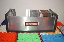 LEVEL VODKA (BY ABSOLUT) BARWARE NAPKIN & STIRRER CADDY stainless steel barware