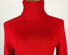 J. Crew Classic Ribbed Turtleneck Sweater Wool & Cashmere Red Women's Small