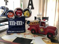 M&M's Red's Firehouse Fire Truck Candy Dispenser & 2000 Millennium Dispenser LOT