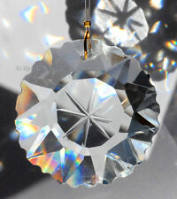Star Burst Etched Prism 50mm Austrian Crystal Clear SunCatcher 2 inches