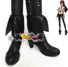 Anime Steins Gate Makise Kurisu  Cosplay Shoes Boots Cos Accessary Female