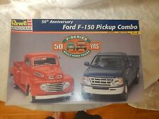 Revell FORD F-150 Pickup Combo 50th Anniversary Double Kit-48 & 98 Trucks-FS Box