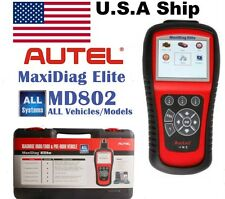 FromUS AUTEL MaxiDiag Elite MD802 ALL SYSTEMS/VEHICLES/OBD2 Diagnostic Scan Tool