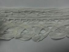 5 yards pre cut white battenburg lace trim 2 1/2 inch wide SHIP FROM USA