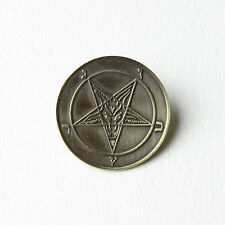 Sigil of Baphomet Brass Coated Pin - Pentagram Satan Venom Mayhem Goat Leviathan