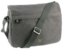Troop London Extendable Canvas Messenger Shoulder Bag - Black ( TRP0241 )