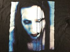 Rare Vintage Large Marilyn Manson The Long Hard Road Out Of Hell T-Shirt Hole
