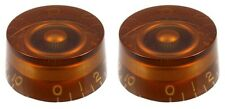 AMBER EMBOSSED SPEED KNOBS FOR GIBSON LES PAUL / EPIPHONE GUITAR (2-PACK) *NEW*