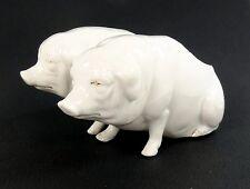 salerons anciens salières cochon porc truie pig XIX 19 e salt pepper pot