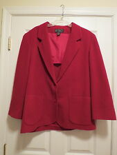 Abercrombie and Fitch womens red blazer jacket ladies size large coat wool blend