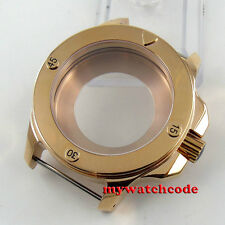 47mm parnis Gold plated Polished Sapphire Crystal 316L Stainless Steel Case C80
