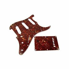 SSS Pickguard & Back Plate Set for Strat Guitar Tortoise Shell Brown W/Screws