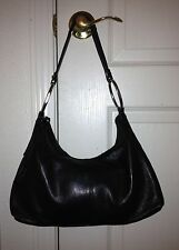 PRETTY ALFANI BLACK PEBBLED LEATHER MEDIUM HOBO TOTE SHOULDER BAG PURSE HANDBAG