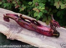 RED DRAGON Celtic Knot Incense Burner Censer - Witchcraft Wicca Pagan Ritual