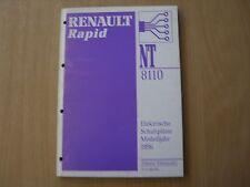 Manuale Officina Elettrico Schaltpläne Renault Rapid Modello Dell'anno 1996
