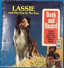 LASSIE and Her Day In The Sun (1977) Peter Pan Book & Record set