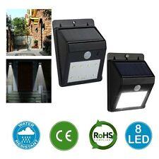 Bright 8-LED Solar Security PIR Motion Sensor Wall Mount Garden Lamp Flood Light