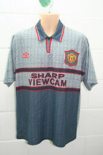 VINTAGE UMBRO MANCHESTER UNITED MAN UTD AWAY SHIRT TRIKOT FOOTBALL 1995-1996 L