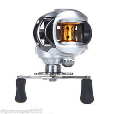 10BB Bearings 6.3:1 Left Hand Fishing Reel Bait Casting Baitcasting Silvery