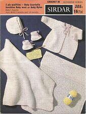 Vintage crochet pattern layette pour bébé