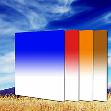 Zomei 100*150mm Gradual Tea+Blue+Orange+Red Square Filter Kit for Cokin Z-Pro