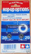 Tamiya 53262 RD 0.4/04 Steel Pinion Gear Set (28T & 29T) (*TA03/TA05/TRF416) NIP