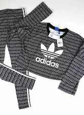 NWT 2pc ADIDAS WOMEN'S ORIGINALS PAVAO SWEATER CROP PULLOVER and leggings sz S