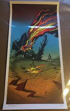 STAR WARS THE FORCE AWAKENS 12X24 IN SIGNED BY TIM DOYLE RARE AP PRINT ARTIST