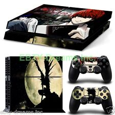 Death Note Anime Yagami Light L Lawliet Ryuk Skin Sticker Decal Protector PS4